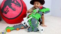 Super Giant Dinosaur Surprise Egg Toys Opening Imaginext Toys Ultra T-Rex Dinosaur Train Ckn Toys