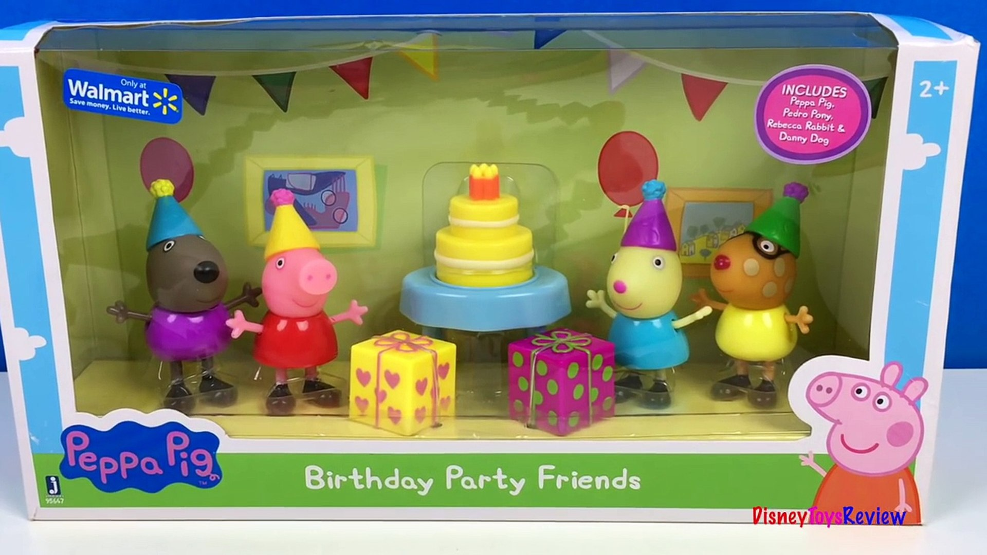 Unboxing Peppa Pigs Birthday Party Friends Pedro Rebecca Danny And Candy Cat Birthday Part 1