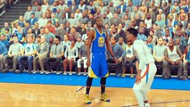 RUSSELL WESTBROOK PUNCHES STEPHEN CURRY! Stephen Curry Fights Westbrook | NBA 2K17