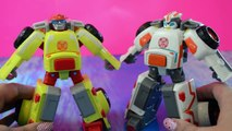 Rescue Bots toys Doc Bot MEDIX! Transformers toy videos for kids unboxing 2016 Playskool Heroes