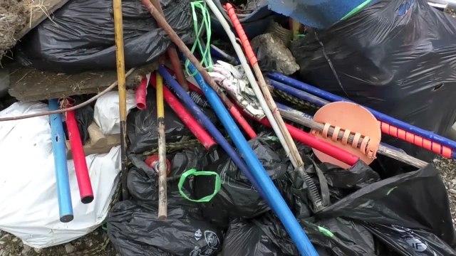 Journée nettoyage des pistes organisée par l'association Demain le Haut-Verdon, samedi 26 septembre 2017