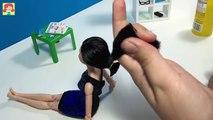 Bricolage poupée pour cheveux la Coupe de cheveux enfants faire rapide tutoriel Taylor barbie barbie t