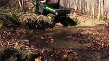 John Deere Gator 825i XUV OFF-ROAD Test Review: The Comp: Polaris Ranger-Brutus, Honda Pioneer, RTV