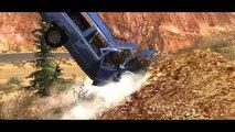 Et voiture mortel conduire échouer grandiose haute saut Vitesse Compilation de crash canyon 2 beamng