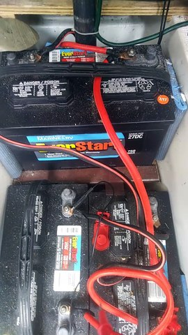 Battery bank and acheiving a quicker charge
