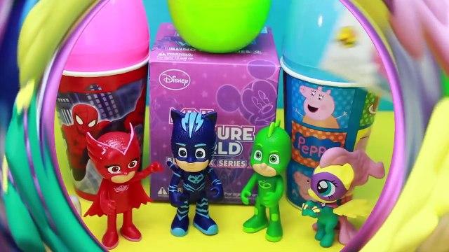 Herois de Pijama Brinquedos Peppa Pig Copos Surpresas PJ Masks Turma da Monica Disney