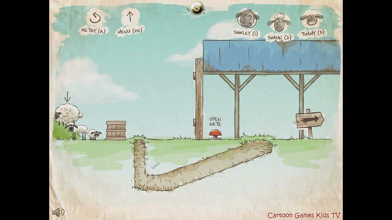 Shaun the Sheep / Home sheep home / Catrtoon Games Kids TV