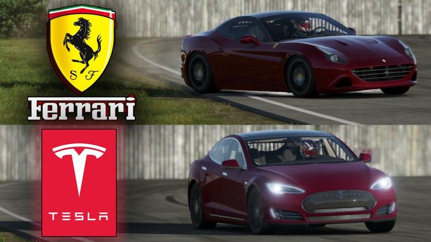Tesla P100d Vs Ferrari 458 Video Dailymotion