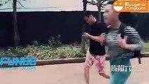 Clip Hài | Hài TQ Tán gái phải nhìn trước nhìn sau ko có khi ăn cả kẹo đồng