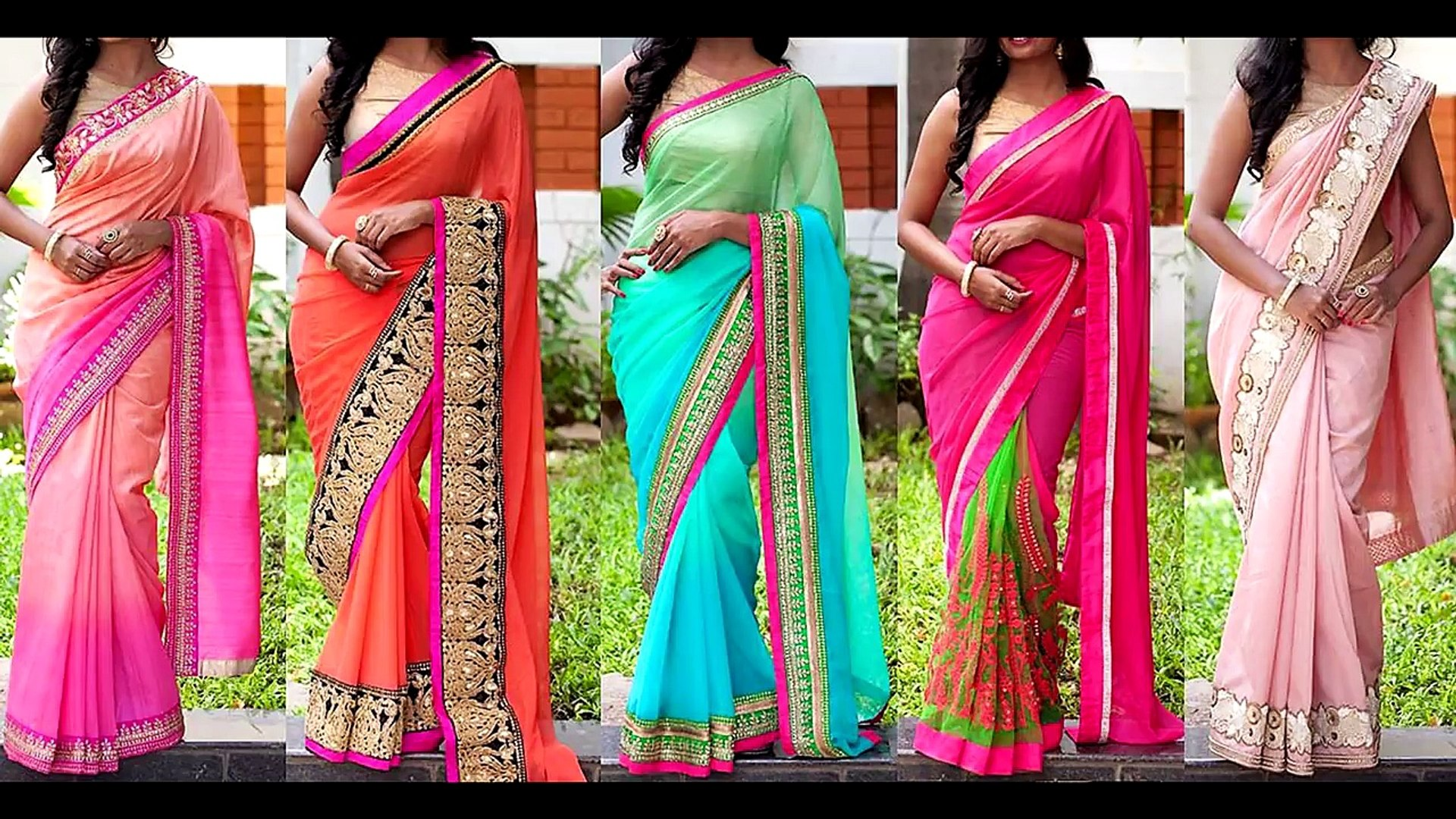 1136af5d87 Border Attached Designer Sarees In Classy Color Combinations – Видео  Dailymotion