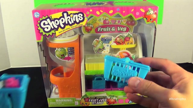 Shopkins Easy Squeezey Fruit & Veg Stand Playset! Review by Bins Toy Bin