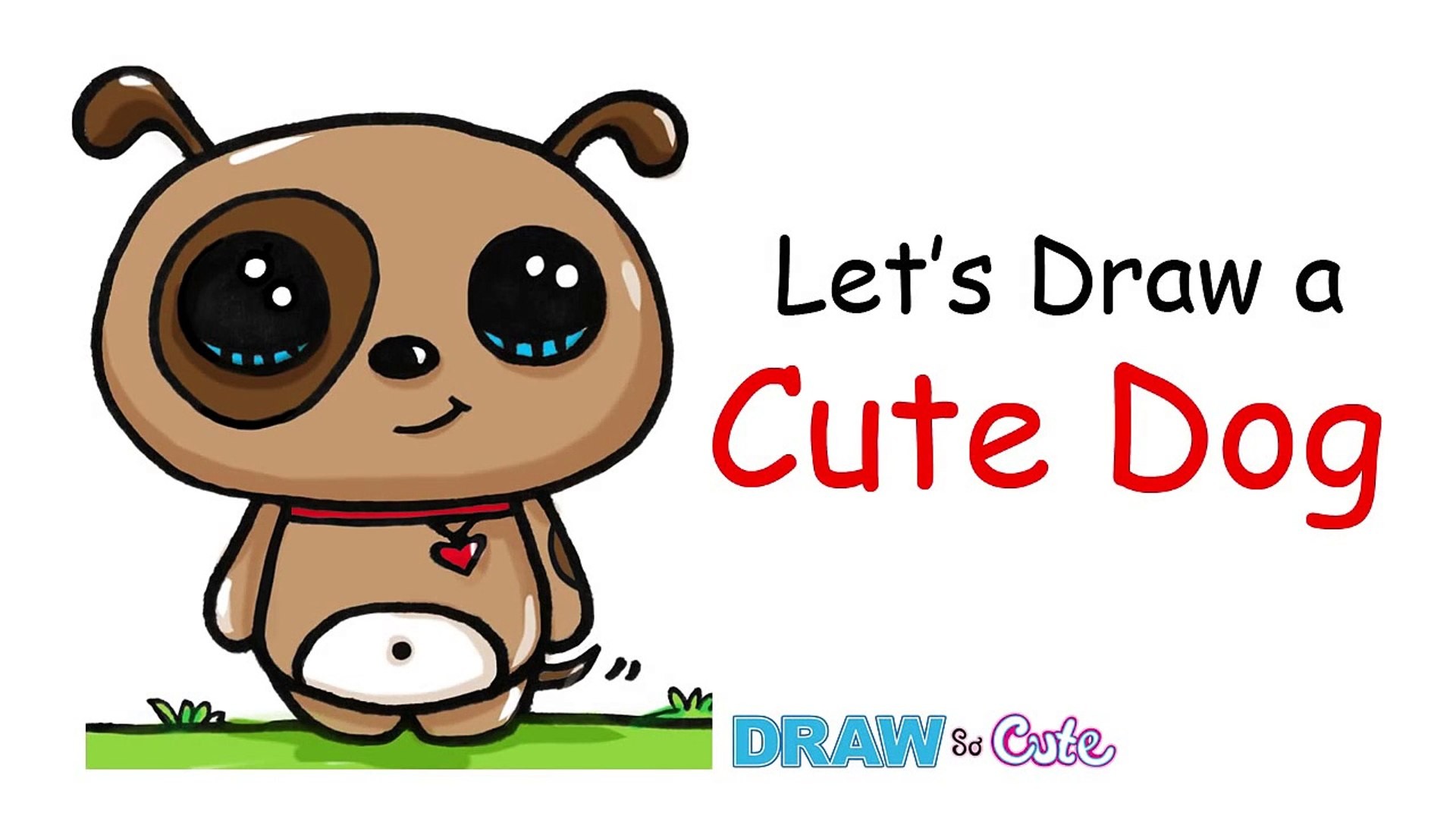 How to Draw a Dog - Simple and Cute