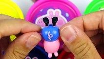 Play Doh Cans Surprise Eggs Peppa Pig doug toys Pepa Egg