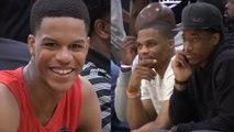 Russell Westbrook & DeMar DeRozan SCOUT Shareef O'Neal & Bol Bol at AAU Game