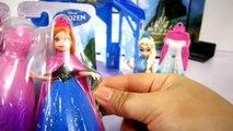 ANNA E ELSA BONECAS COM VESTIDOS MAGICLIP E MINI CASTELO DA ELSA! Disney Frozen Brinquedos