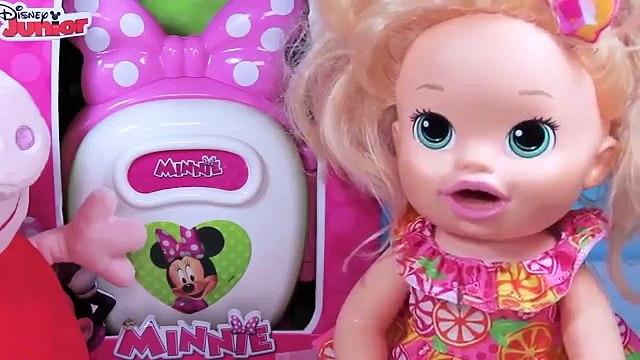 Baby Alive Minha Boneca Peppa Pig Ovos Surpresas Shopkins Abrindo Geladeira Minnie Mouse