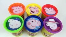 Les couleurs amusement amusement enfants Apprendre entaille porc jouer jouets Peppa doh surprises jr peppa animal