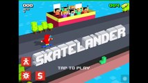SKATELANDER Review: Crossy Road meets Skateboarding! | iOS Gameplay (Android, iPhone/iPad)