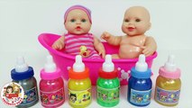 Baby Bottle Slime Tub Party Combine Learn Colors Babies You & Me Baby Doll Playset Mes Jolis bebes