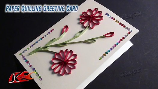 Tremendous Diy Easy Paper Quilling Greeting Card Without Tool How To Make Personalised Birthday Cards Cominlily Jamesorg