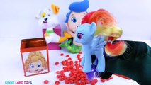 Learn Colors Bubble Guppies Molly Gil Play-Doh Dippin Dots DIY Cubeez Jelly Beans M&Ms Toy Surprise