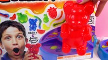 GIANT RAINBOW GUMMI BEAR Gummy Fory Create Gummi Bears Sweet N Sour Candy Kit Unboxing Video