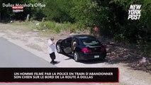 Filmé en train d'abandonner son chien, les États-Unis le détestent ! (Vidéo)