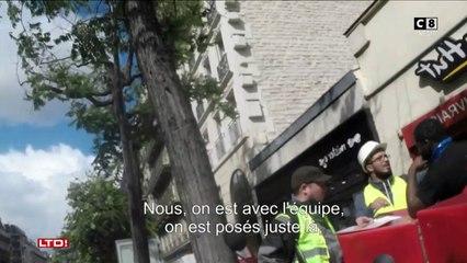 Une piste de karting place de l'Etoile à Paris - Caméra Cachée - Les Terriens du dimanche - 17/09/2017