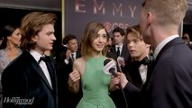 'Stranger Things' Stars Natalia Dyer, Joe Keery, Charlie Heaton on Celebrating the Show | Emmys 2017