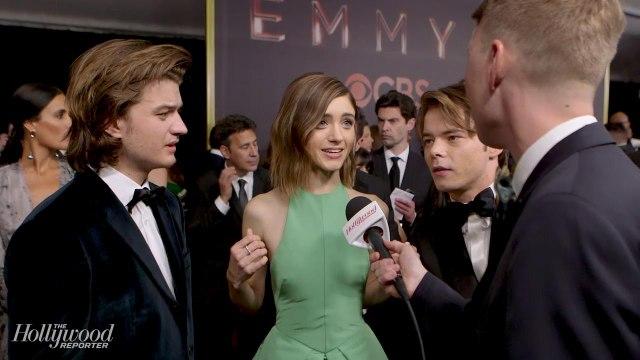 'Stranger Things' Stars Natalia Dyer, Joe Keery, Charlie Heaton on Celebrating the Show   Emmys 2017