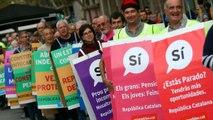 Barselona'da bağımsızlık yürüyüşü