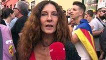 """Madrileños defienden el """"derecho a decidir"""" en Cataluña"""