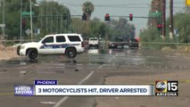 Driver hits motorcyclists on Phoenix