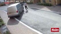 Un livreur Amazon oublie son frein à main et explose son camion (Vidéo)