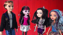 Monster High Doll Videos Draculaura Goes to Ever After High Dolls Raven Queen, Apple White Part 3