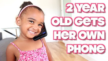 2 YEAR OLD GETS HER OWN PHONE #7