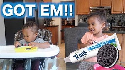 Funny OREO TOOTHPASTE PRANK on my kids!
