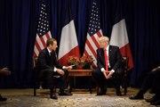 Entretien d'Emmanuel Macron et Donald Trump à New York