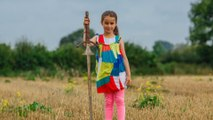 This adorable girl discovered the famous 'Excalibur' sword