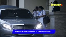 SPOTTED Kareena Kapoor Khan with Son Taimur Ali Khan at Amrita's Residence