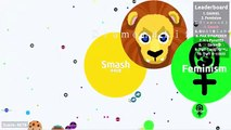 DONT TRY THIS IN AGAR.IO !! - DESTROYING TEAMS SOLO IN AGARIO