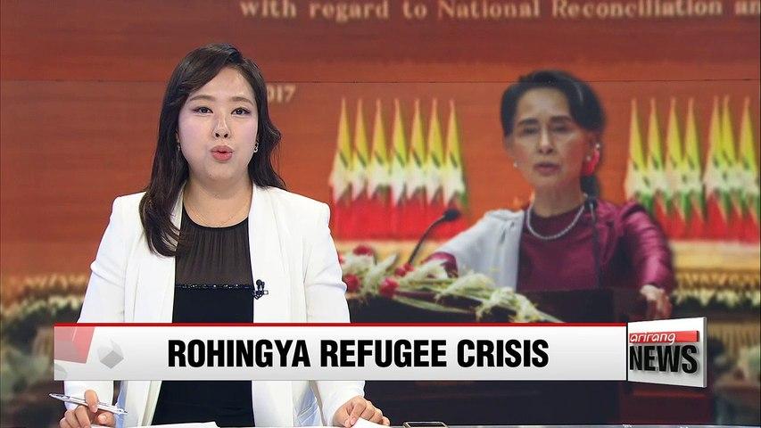 Myanmar's leader Aung San Suu Kyi addresses nation over Rohingya crisis