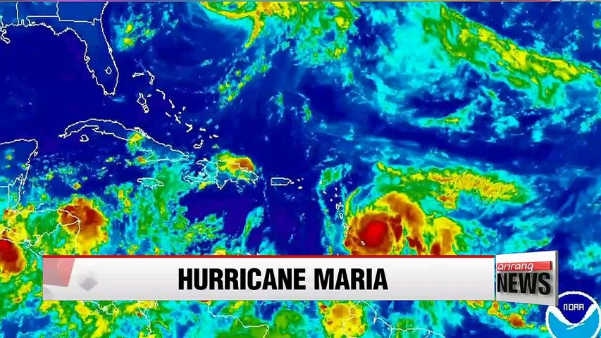 Category 5 Hurricane Maria powers up for another blow to Caribbean