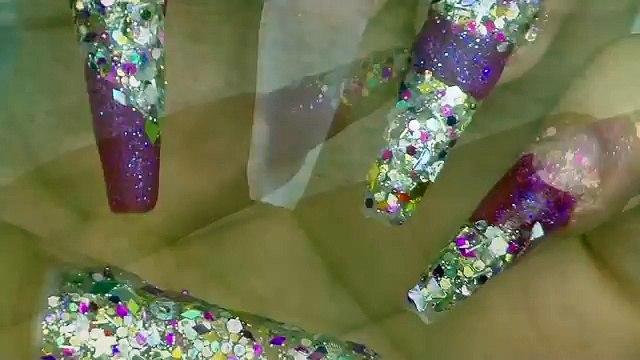 Chit Chat Uñas Brillosas Sin Almendra Luliz Nails Decoración Para Principiantes