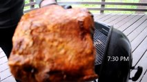 Easy Snake Method While Sleeping Charcoal BBQ Smoked Pork Shoulder Weber Kettle Grill