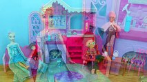 Barbie Shower Frozen Elsa, Rapunzel, Belle, Merida Barbie House Party Parody DisneyCarToys