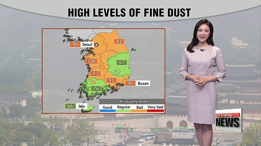 High fine dust levels, sporadic showers tonight _ 091917