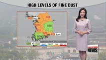 High fine dust levels, sporadic showers tonight _ 091917