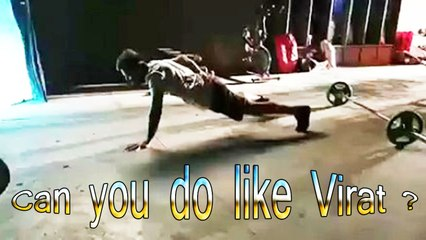 How many one handed push ups can you do? Train To Live | Live To Train | Virat Kohli !