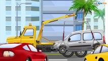 La Dépanneuse et La Voiture de police | Voitures et camions dessins animés